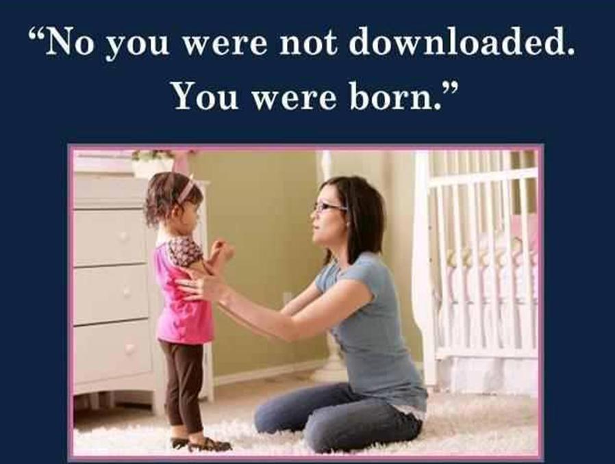 You were born